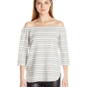 Bailey/44 Stone Town Cold Shoulder Striped Top S